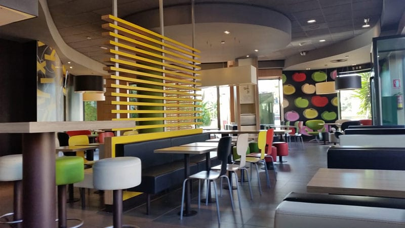 Mcdonalds interior solid surface
